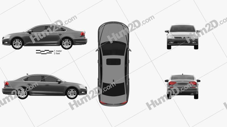 Volkswagen Passat (NMS) 2016 car clipart