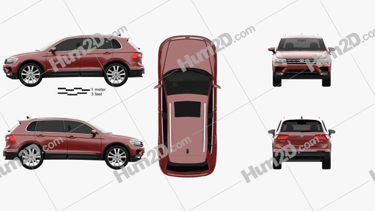 Volkswagen Tiguan 2015 Imagem Clipart