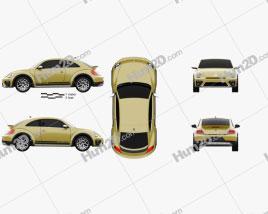 Volkswagen Beetle Dune 2016 car clipart