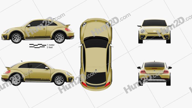 Volkswagen Beetle Dune 2016 Clipart