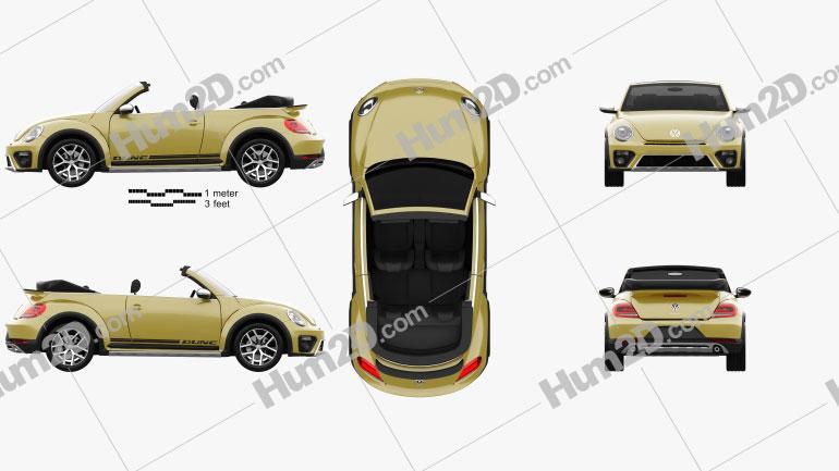 Volkswagen Beetle Dune Convertible 2016 Clipart Image