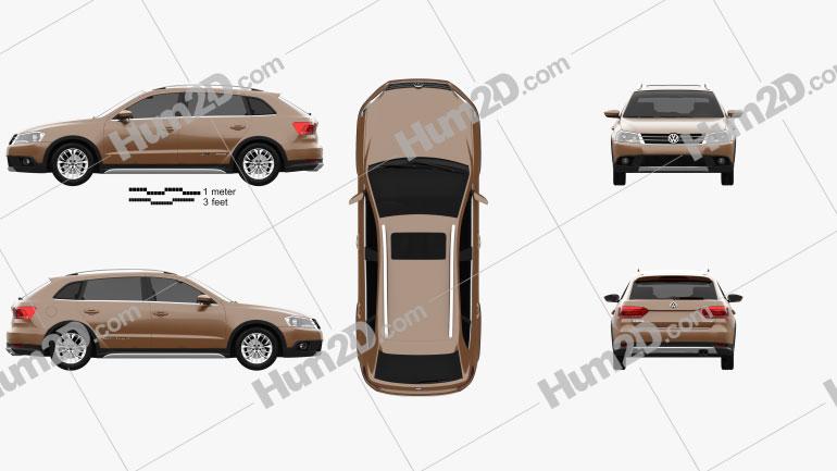 Volkswagen Cross Lavida 2013 car clipart