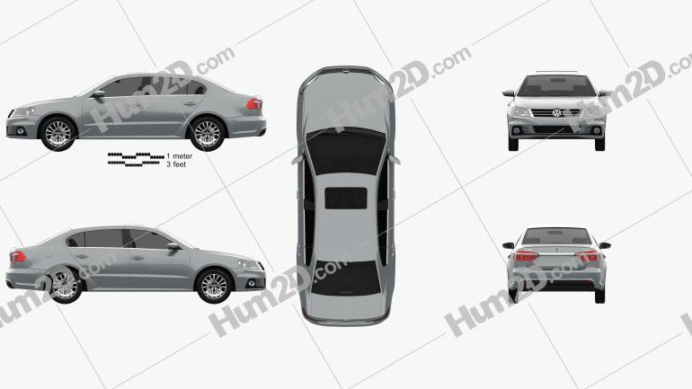 Volkswagen Lavida Sport 2013 car clipart