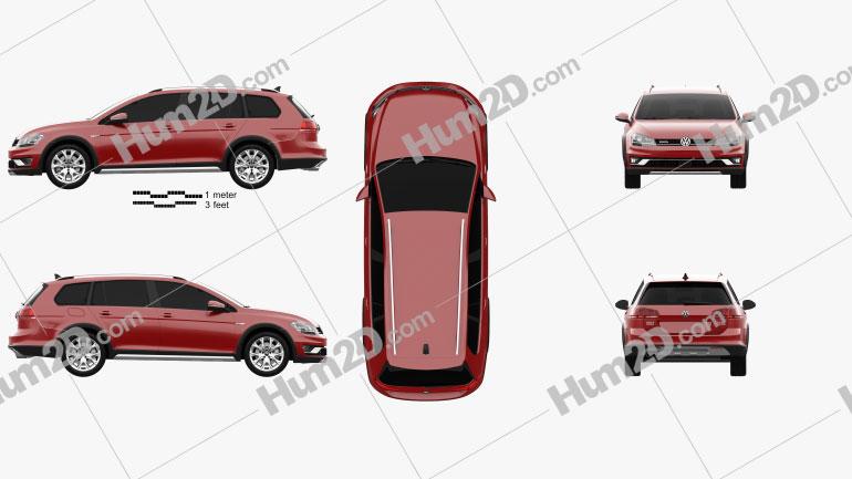 Volkswagen Golf Alltrack 2015 car clipart