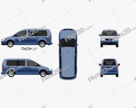 Volkswagen Caddy Maxi 2004 clipart