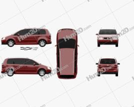 Volkswagen Touran 2003 clipart