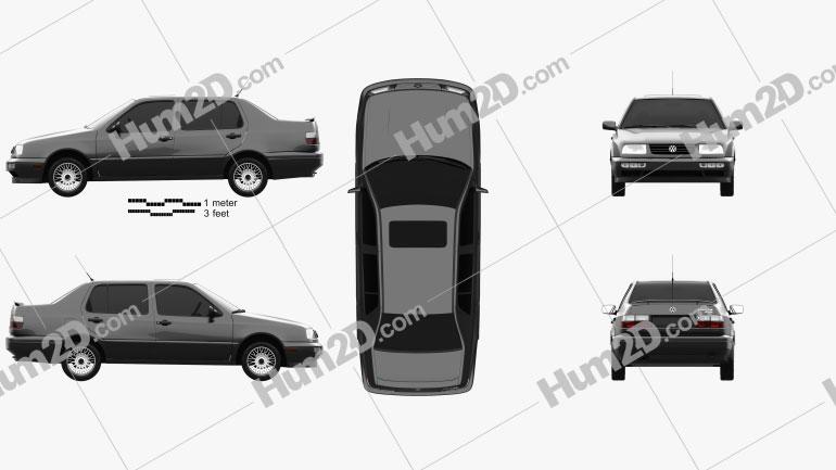 Volkswagen Jetta 1992 car clipart