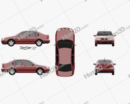 Volkswagen Jetta Sedan 2003 car clipart