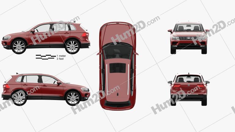 Volkswagen Tiguan with HQ interior 2015 car clipart