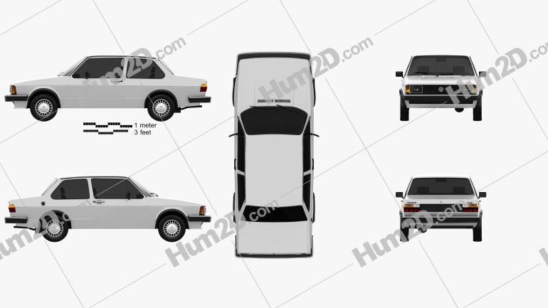 Volkswagen Jetta 2-door 1979 car clipart