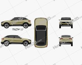 Volkswagen T-Cross Breeze Concept 2016 car clipart