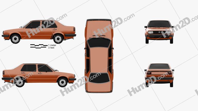 Volkswagen Jetta 1984 car clipart