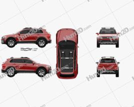 Volkswagen Tiguan GTE Active 2015 car clipart