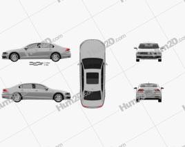 Volkswagen Phideon 2017 Clipart
