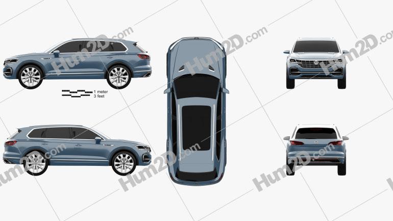 Volkswagen T-Prime GTE 2016 Clipart Image