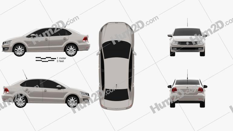 Volkswagen Vento 2016 car clipart