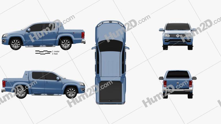 Volkswagen Amarok Crew Cab Aventura 2016 car clipart