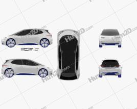 Volkswagen ID 2016 Clipart