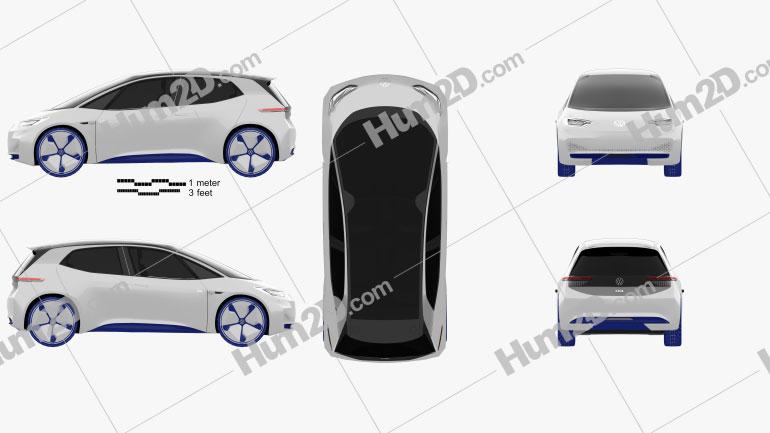Volkswagen ID 2016 car clipart