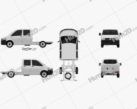Volkswagen Transporter (T6) Doppelkabine Chassis 2016 clipart