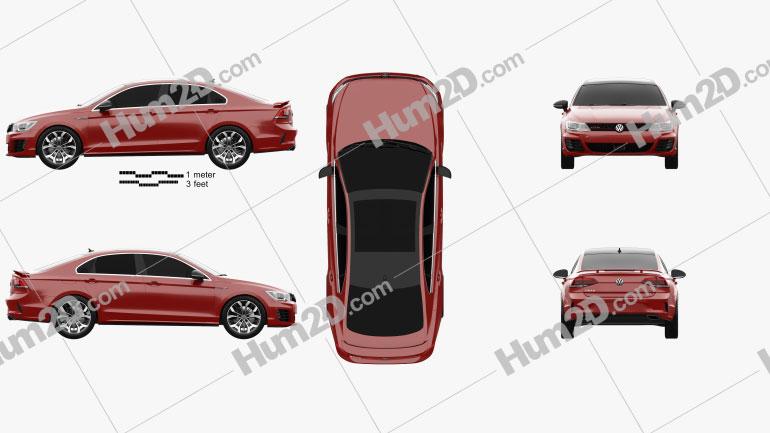 Volkswagen Lamando GTS 2016 car clipart
