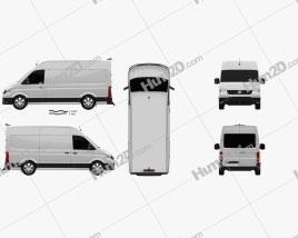 Volkswagen Crafter Panel Van L1H2 2017 clipart