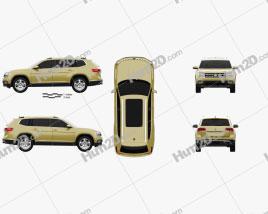 Volkswagen Atlas SEL 2018 car clipart