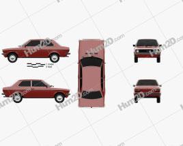 Volkswagen Derby 1977 car clipart