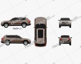 Volkswagen Teramont 2017 car clipart