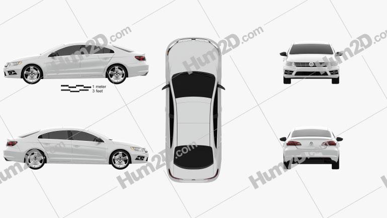 Volkswagen CC R-Line 2013 car clipart