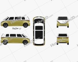 Volkswagen ID Buzz 2017 clipart