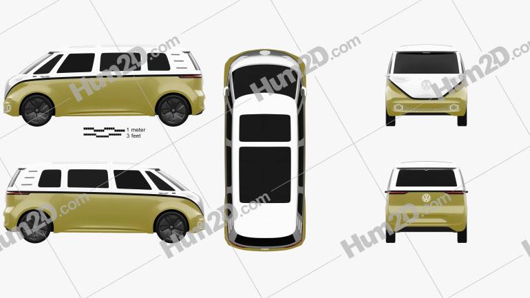 Volkswagen ID Buzz 2017 Clipart Image