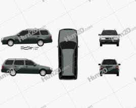 Volkswagen Golf Variant 1993 car clipart