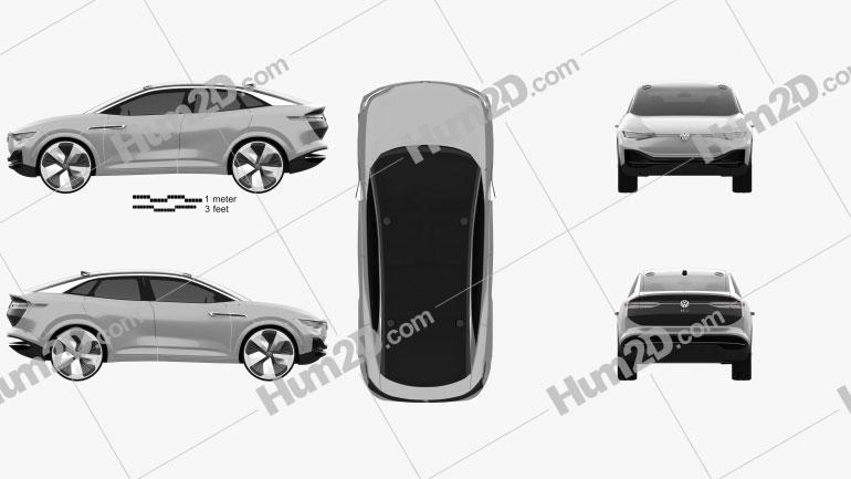 Volkswagen ID Crozz 2017 Clipart Image