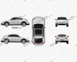 Volkswagen Beetle R-Line coupe 2016 car clipart