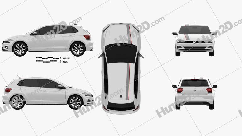 Volkswagen Polo Beats 5-door 2017 car clipart