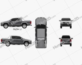 Volkswagen Amarok Crew Cab Ultimate 2016 Clipart