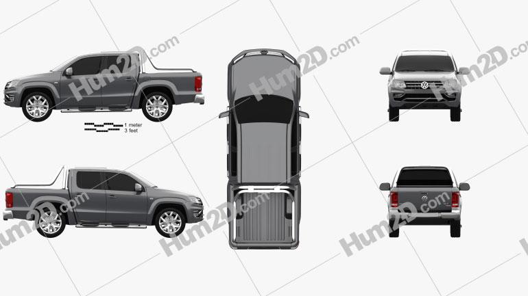 Volkswagen Amarok Crew Cab Ultimate 2016 Imagem Clipart