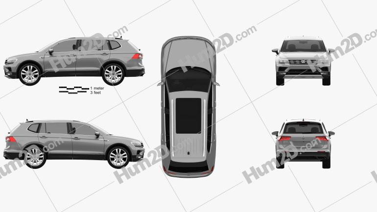 Volkswagen Tiguan Allspace 2017 Imagem Clipart