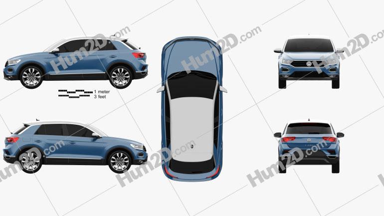 Volkswagen T-Roc 2017 Clipart Image