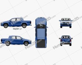 Volkswagen Amarok Crew Cab Aventura with HQ interior 2016 Clipart
