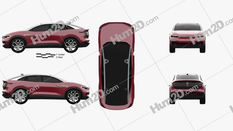 Volkswagen ID Crozz II 2017 Clipart Image