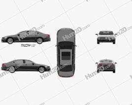 Volkswagen Phideon GTE 2017 car clipart