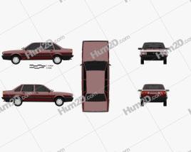 Volkswagen Santana CN-spec 1985 Clipart