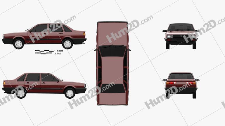 Volkswagen Santana CN-spec 1985 car clipart