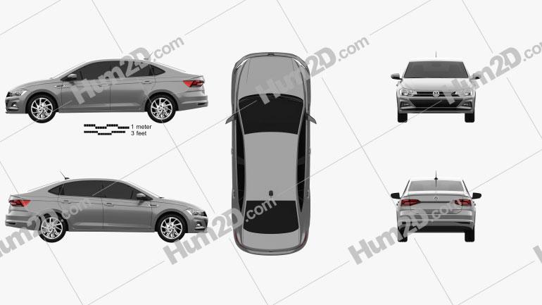 Volkswagen Virtus Highline 2018 car clipart