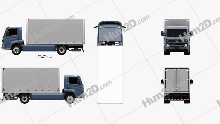 Volkswagen e-Delivery Box Truck 2017 clipart