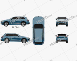 Volkswagen Touareg Elegance 2018 car clipart