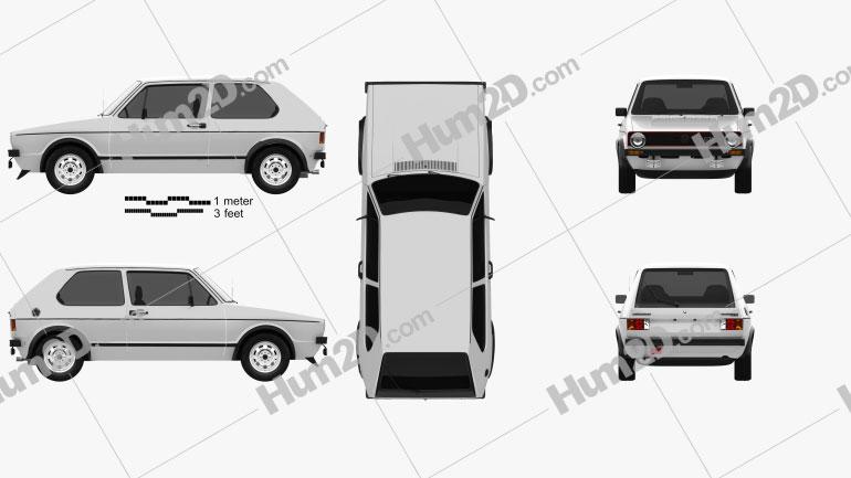 Volkswagen Golf GTI 1975 car clipart