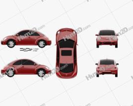 Volkswagen Beetle coupe 2005 car clipart